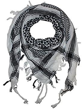 Superfreak® Palituch Grundfarbe weiß°PLO Schal°100x100 cm°Pali Palästinenser Arafat Tuch°100% Baumwolle – alle...