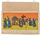 #4: ROCKSHOK Multicolour Rajasthani Painting 6 Hooks Wooden Key Holder With Letter Box (16cm x 22cm x 5cm)