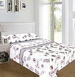 ForenTex - Juegos de sábanas, (NL-4014), Afrodisias Gris, cama 135 cm, con tacto seda de sedalina, nacarina, de 250 gr/m2, ultra suaves, exclusivas.