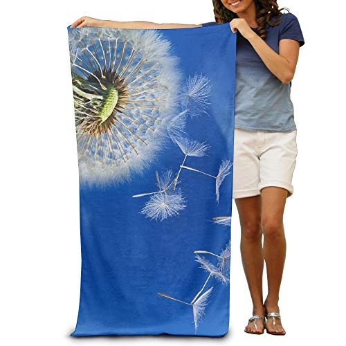 Dandelion Seeds Blow with Wind Quick-Drying Pool Beach Towel Travel Bath Towel for Adults 31x51 inch (Blow-up-pool-lounger)