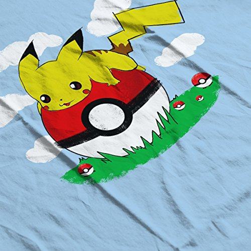 Pokemon Pikachu On Holiday Women's T-Shirt Sky Blue