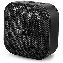 MIFA Mini Altoparlante Portatile Bluetooth4.2 Tecnologia TWS e DSP, 15 Ore di Riproduzione con Batteria Litio 1200 mAh, IP56 Impermeabile, Scheda Micro SD, Cavo Audio 3,5 mm e Microfono Incorporato per iPhone, iPad, Samsung, Huawei, Honor, Nexus, Laptop e Altri, Nero