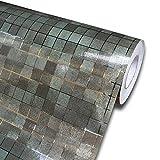 ZCHENG Mosaic Shelf Liner Contact Paper Waterproof selbstklebende Tapete für Küche Backsplash Fliese Badezimmer Wand Dekor Tapete, braun, 3mX45cm