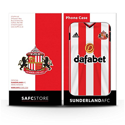 Offiziell Sunderland AFC Hülle / Matte Snap-On Case für Apple iPhone 5C / Pack 24pcs Muster / SAFC Trikot Home 15/16 Kollektion Pack 24pcs