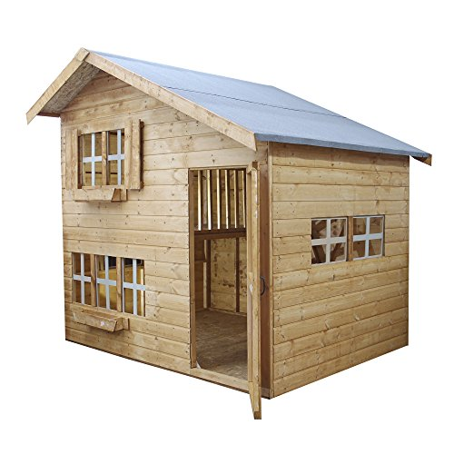 8x6 Waltons Honeypot Bramble Wooden Playhouse - Safety Tested, Two Storey, Shiplap Cladding - By Waltons