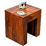 TimberTaste Cento Solid Wood Side Table (Teak Finish)