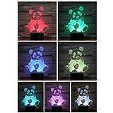 Oso 3D LED Luz nocturna Lámpara para perros Decoración de la habitación Luz Corazón luminaria Niños Niños Regalos para bebés Panda Lámpara de mesa Luna Dormitorio