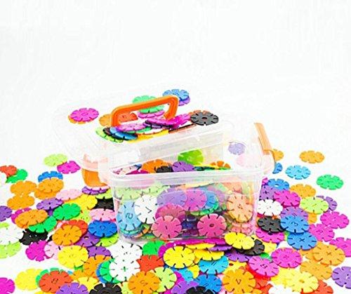 Kinder frühe Bildung fügt Schneeflocken Stück von Boxed Plastik gefüllt montiert Baby pädagogischen Spielzeug