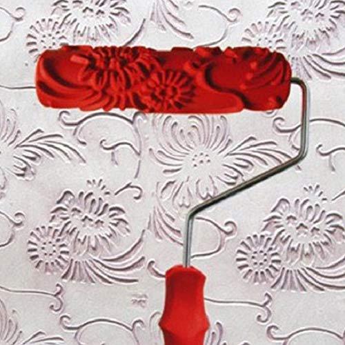 WE-WIN Rodillo pintura relieve moleteado flores Rodillo
