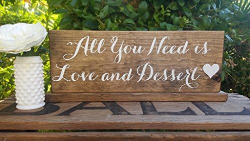 Norma Lily All You Need is Love und Dessert Donut Bar Schild Cupcake Tisch Donut Wand Schild Hochzeit Kuchen Ständer Rustikal gebeizt 15x 5 Lily Dessert