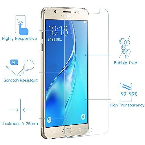 [2 Pack] Panzerglas für Samsung Galaxy J7 2016 Schutzglas , Panzerglasfolie SchutzfolieGehärtetes Glas 9H Displayschutzfolie von Smartphone-Equipment - 3