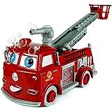 Seifenblasen Feuerwehrauto mit Licht Sound Feuerwehr Truck Auto Bubble Spielzeug