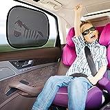 2PCS Pare-soleil Voiture, Zuoao Pare-soleils Universel Auto Voiture Vitres Latérales Arrière pour Protéger Vos Enfants Bébé Contre Soleil UV