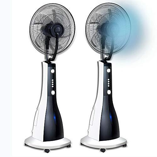 """Ventilateur sur pied avec nébuliseur d'eau 90W 16"""" (41cm) roues réglable en hauteur"""