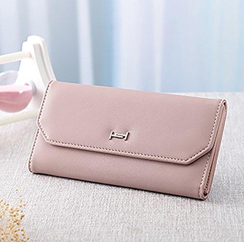 CLOTHES- Lady Wallet Koreanische Version Einfache Lange Abschnitt Mode Drei Falten Freizeit Einfach Zu Fahren Multi-karte Bit Dünne Abschnitt Handtasche ( Farbe : Blau ) Lila