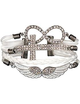 Infinity Strass glänzend cross Rihanna Infinity weiß Karma MEHRADRIGER Armband