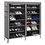 #7: PAffy Shoe Cabinet, 2 Column 6 Rows, Shoe Rack Organiser, Colour - Grey (New Launch - Promotional Price 1599/- till 31/05/2017 only)