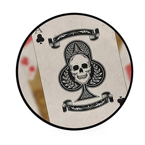 e Ace Spielkarten, rund, rutschfest, für Wohnzimmer, Schlafzimmer ()