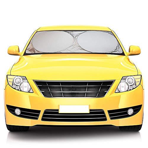 Parasole Auto Parabrezza, Parasole per Parabrezza Ripiegabile per Evitare i Raggi del Sole, Protettore Contro i Raggi UV, 150 x 80 cm
