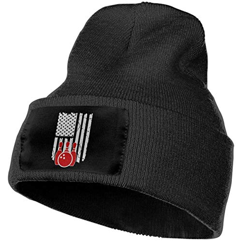 Fashion New warm Unisex Men & Women Bowling American Flag Outdoor Fashion Knit Beanies Hat Soft Winter Skull Caps (Kit Outfit American Girl School)