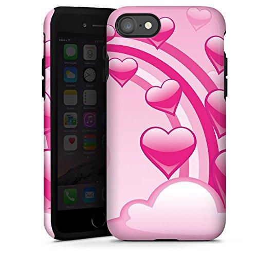 Apple iPhone X Silikon Hülle Case Schutzhülle Liebe Wolke Herz Tough Case glänzend