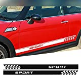 DSYCAR 1Pair Side Car Decal Sill Sport Door Side Decal Adesivi Adesivi laterali in vinile per MINI Cooper One S Countryman R60 Paceman R61 F55 F56 R56 R50 R53 (Nero)