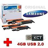Samsung CLP 320 Original Tonerkit CLT-P4072C (CLT-P4072C/ELS) + 4GB KCT USB-Stick USB 2.0