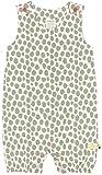 loud + proud Unisex Baby Spieler mit Druck, aus Bio Baumwolle, GOTS zertiziziert, Grün (Olive Oli), 68 (Herstellergröße: 62/68)