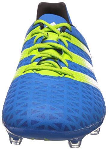 Adidas Herren Ace 16.2 Fg / Ag Fußballschuhe Blau (shock Blu S16 / Semi Solar Slime / Ftwr Whiteshock Blu S16 / Semi Solar Slime / Ftwr Bianco)