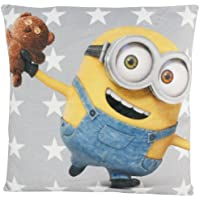 MINIONS Bob & Teddy, 30 x 30 cm-0122055 Kissen, Polyester, grau, 35 x 35 x 1.5 cm