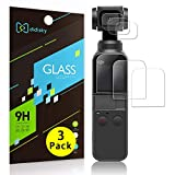 Didisky Tempered Glass Screen Protector for DJI Osmo Pocket, Anti Scratch, 9H Hardness, No Bubbles, High Definition, Easy To Apply.3 Sets[Lens Film X3 + Screen Film X3]