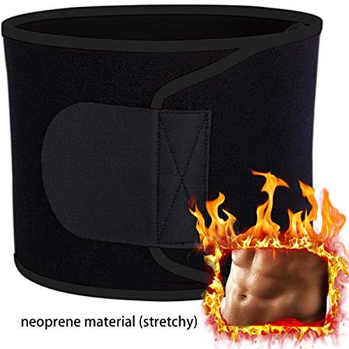 YHmall Bauchweggürtel, Bauch Weg Schwitzgürtel zur Fettverbrennung Verstellbarer Fitnessgürtel Fitness Gürtel