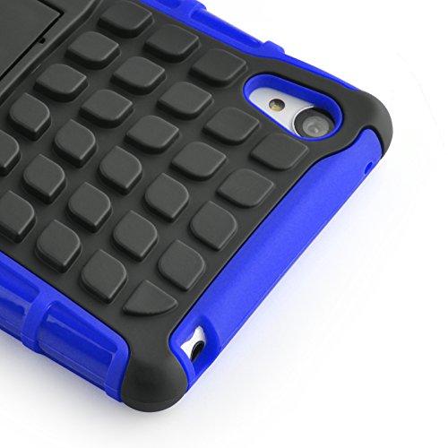 Cover iPhone 5s, JAMMYLIZARD [Alligator] Custodia Heavy Duty in Silicone TPU e Polimero per Apple iPhone 5 / Apple iPhone 5s / Apple iPhone SE, ARANCIONE BLU