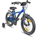 51 RFNykNEL. SS150 PROMETHEUS® Bicicletta BMX per bambino e bambina, 16 pollici, blu e nera, con rotelle, freno a pinza davanti, freno a…
