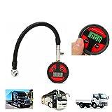 RISHIL WORLD 0-200PSI Metal Digital Tire LCD Manometer Air Pressure Gauge PSI BAR KPA