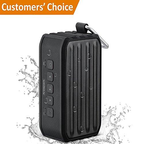 Arespark Tragbarer Bluetooth 4.0 Wasserdicht Lautsprecher Speaker IPX4-Standard, 3,5W Treiber, 12 Stunden Wiedergabedauer, NFC-Funktion Schwarz