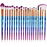 Einhorn Makeup Pinsel Set, INTVN 20 Stücke Lidschatten Make Up Pinsel Set, Pulver Foundation Rouge Lidschatten Blending Pinsel