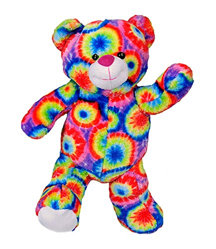 Stuffems Toy Shop Nehmen Sie Ihre eigenen Plüsch 16-Zoll-Tie Dye Teddybär - Versandfertig in wenigen einfachen Schritten lieben - Baby-schritte Tie Dye