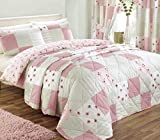 Dreams n Drapes Patchwork Tagesdecke für King Size, rosa