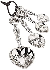 Ganz 4-Piece Measuring Spoons Set, Hearts