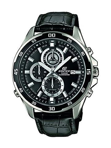 Casio Edifice - Montre Homme Analogique avec Bracelet en cuir Véritable - EFR-547L-1AVUEF