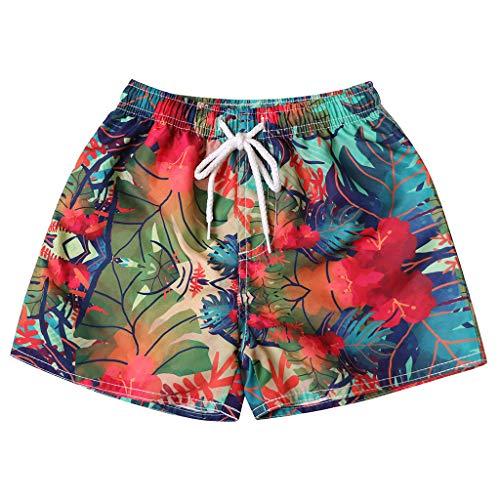 OIKAY Badeshorts Damen hot Pants Shorts für Frauen Schnell trocknendes Strandsurfen Laufen Schwimmen Wassersport(rot10,M)