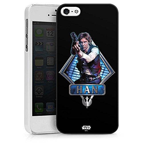Apple iPhone X Silikon Hülle Case Schutzhülle Star Wars Han Solo Merchandise Hard Case weiß
