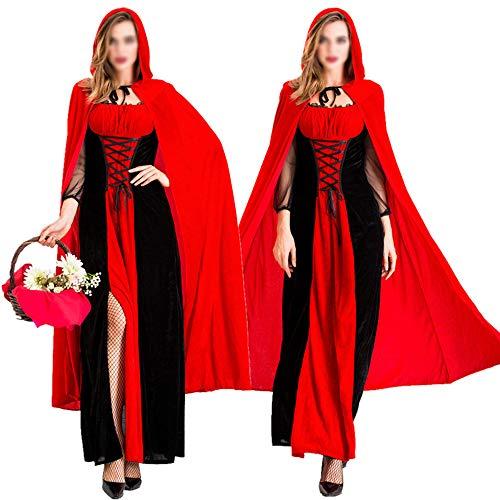 Thema Eine Kostüm Partei - Hengyedianlijishu Rotkäppchen Der Erwachsenen Frauen, Halloween-Kostüm-Weibliches Abendkleid-Partei-Thema-Partei-Kostüm,L