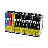 LS 10 Patronen für Epson T1281-84 7xbk 1xcmy 2xBK,14,5 ml,CMY je 14,5 ml,kompatibel