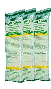 Mira Marine Product Agar Agar China Grass Strips Color :White,Per Pack Of Weight: 50Gm,Pack Of 3