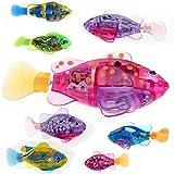 Befied Kinder Kreativ 8 Farben Robo-Fisch Clownfisch Elektronische Haustiere Automatisches Spielzeug Wasserspaß