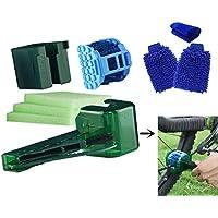 COSYROOMY Fahrrad-Mehrzweckreinigungsset - 4-in-1 Multifunktions-Kette Reinigungswerkzeug, 2 Reinigungshandschuhe & 1 Stillhandtuch