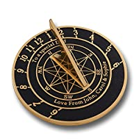 Special Handmade Sundial Gift. This Unique Gift Idea Can Be Personalised For Your Dad, Husband, Boyfriend Or Grandad And Would Make The Perfect Gift For A Birthday, Anniversary, Christmas Or Valentine