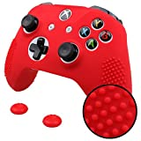 #7: Red : IVYUEEN New Studded Anti-slip Silicone Rubber Cover Skin Case for XBox One X S Slim Controller with 2 Thumbsticks Caps Grips